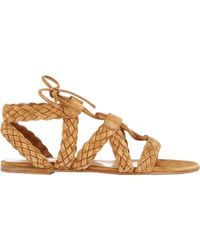 Gianvito Rossi Braided Gladiator Sandals - Lyst