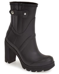 Hunter 'Original - High Heel' Rain Boot - Lyst