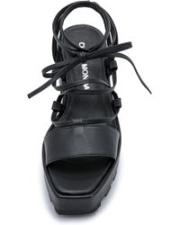 Cheap Monday - Trapped Tied Platform Sandals - Black - Lyst