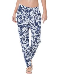 Anne Cole - Floral Print Tapered Pants - Lyst
