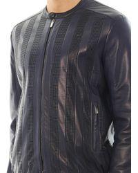 Fendi Nappa Leather Biker Jacket - Lyst
