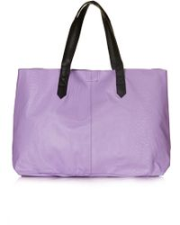 Topshop Womens Embossed Snake Leather Shopper Lilac - Lyst
