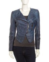 Raison D'etre Faux Leather Moto Jacket - Lyst