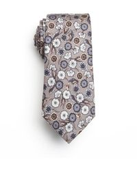 Gucci Grey and Blue Floral Silk Tie - Lyst