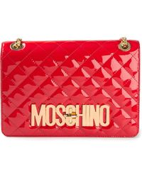 Moschino Quilted Shoulder Bag - Lyst