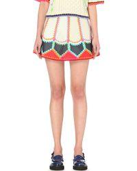 Katie Jones - Lady Leather Mini Skirt - Lyst