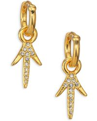 Giles & Brother | Thorn Crystal Drop Earrings | Lyst