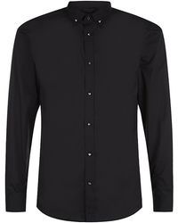 Diesel Stud Button Shirt - Lyst