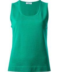 Blumarine Knitted Tank Top - Lyst
