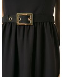 Gucci Black Belted Dress - Lyst