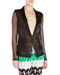 Alysi Sheer Organza Jacket - Lyst