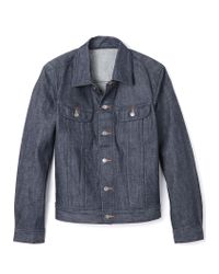A.P.C. New Raw Denim Jacket - Lyst