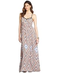 Greylin Orangesicle 'Priscila' Silk Maxi Dress - Lyst