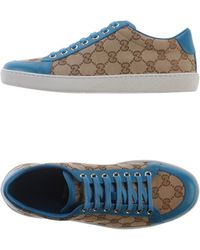 Gucci Green Low-tops  Trainers - Lyst