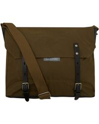 Ally Capellino - Olive Jeremy Waxed Cotton Messenger Bag - Lyst
