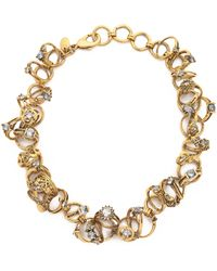 Erickson Beamon - Ringtone Necklace - Gold - Lyst