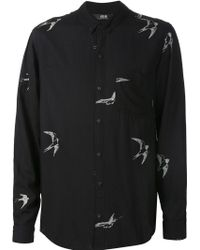 Neuw - 'bob' Bird Print Button Down Collar Shirt - Lyst