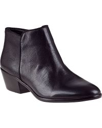 Sam Edelman Petty Ankle Boot Black Leather - Lyst