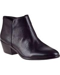 Sam Edelman Petty Ankle Boot Black Leather - Lyst