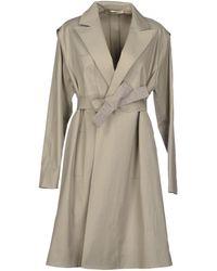 Balenciaga Gray Full-length Jacket - Lyst