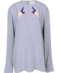 Stella McCartney Silver Jenna Shirt - Lyst