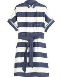 Burberry Brit Stripe Shirt Dress - Lyst
