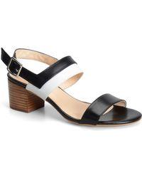 Carmen Marc Valvo - Evie Colorblocked Leather Sandals - Lyst