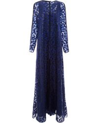 Prabal Gurung Speckle Lurex Chiffon Fil Coupe Gown - Lyst