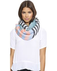 Marc By Marc Jacobs Home Stripe Scarf - Pale Jade Multi - Lyst