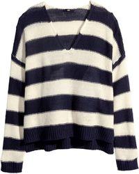 H&M Purl-Knit Jumper - Lyst