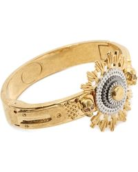 Alexander McQueen Skull Flower Bangle - Lyst