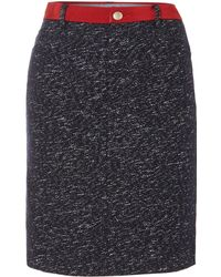 Armani Jeans Pencil Skirt with A Tweed Trim - Lyst
