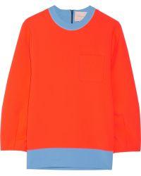 ROKSANDA | Color-block Stretch-crepe Sweatshirt | Lyst