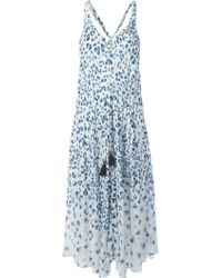 Tory Burch Leopard Print Long Dress - Lyst