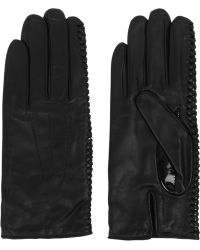 Nina Ricci Whipstitched Leather Gloves - Lyst