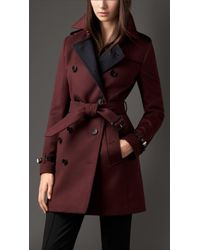 Burberry Virgin Wool Cashmere Trench Coat - Lyst