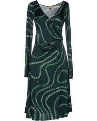 Issa Knee-Length Dress green - Lyst