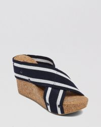 Lucky Brand Platform Wedge Slide Sandals Lk Miller2 - Lyst