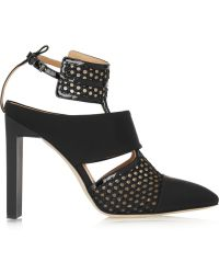 Reed Krakoff Mesh, Rubber And Patent-Leather Pumps - Lyst