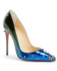 Christian Louboutin - 'Degraspike' Pointy Toe Pump - Lyst