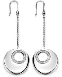 Breil - Stainless Steel Swarovski Crystal Circle Earrings - Lyst