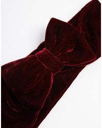 Asos Velvet Bow Hair Turban - Lyst