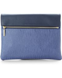 French Connection Sapphire Blue Celestial Clutch - Lyst