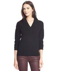 Burberry Brit - Surplice V-neck Cashmere Sweater - Lyst