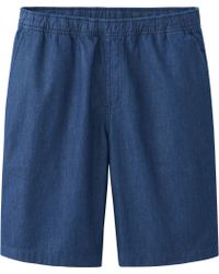 Uniqlo Men Chambray Shorts - Lyst