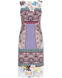 Etro Floral Paisley Sheath Dress - Lyst