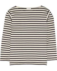 Saint Laurent Striped Cotton-Jersey Top - Lyst