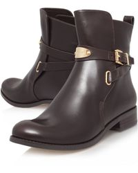 Michael Kors Arley Leather Ankle Boots - Lyst