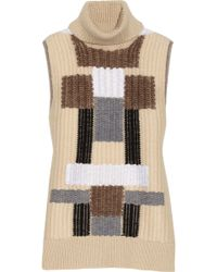 Derek Lam Patterned Wool-blend Sleeveless Sweater - Lyst