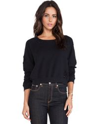 Textile Elizabeth And James Distressed Perfect Sweatshirt - Lyst